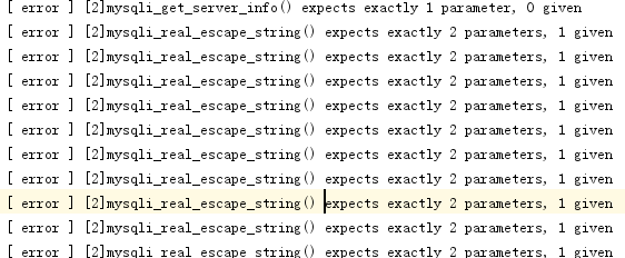 mysqli_real_escape_string() expects exactly 2 parameters, 1 given