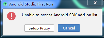 Unable to access Android Sdk add-on list